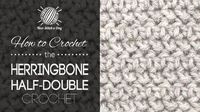 How to Crochet the Herringbone Half Double Crochet Stitch