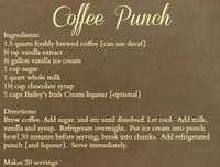 Coffee Punch!