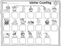 Winter Math Stations: Count to tell how many