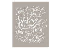 Lindsey Letters Come Thou Fount Canvas // Taupe