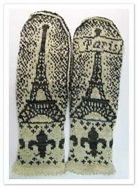 Paris Mittens pattern - $6 CDN
