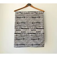 Baby Blanket Bedding - Warm Winter Blanket - Black and White print