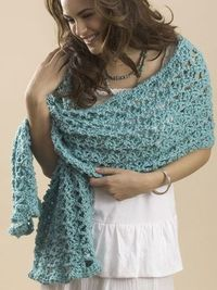 One Skein Crochet Wrap - Click image to find more DIY & Crafts Pinterest pins