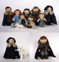 Starks of Winterfell ..... knitted. #gameofthrones