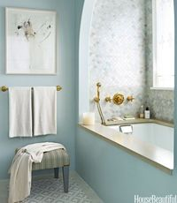 Spa blue and tile work