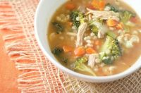 Turkey Veggie Tray Soup - be sure to use low-sodium stock!