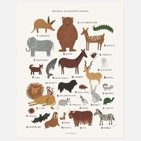 Animal Alphabet Chart Print by Rifle Paper Co.