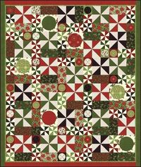 Christmas quilt? free pdf pattern. Nature's Gift - there are only 2 simple blocks.
