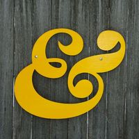 Ampersand (and). $42.00, via Etsy.