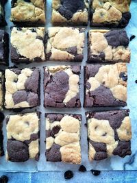 Coffee & Cookie Brownie Bars by
