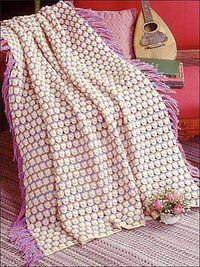"""Free pattern for """"Saltwater Taffy Afghan""""!"""