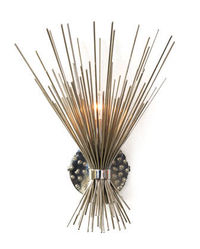 Lumiere sconce in polished nickel by Jean de Merry