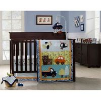 "Graco ""What a Trip!"" Crib Bedding 4-Piece Set"