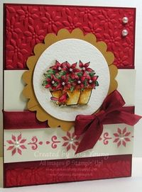 masked Poinsettias card