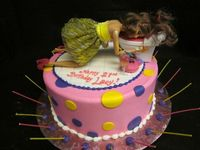 Drunken Barbie 21st Birthday Cake
