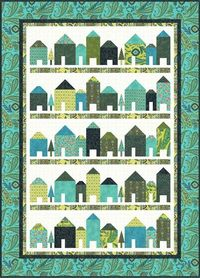 Free pattern from Hoffman Fabrics (I love these little houses right now).repostNED | repostNED
