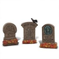 The Haunted Mansion Tombstone Set -- 3-Pc.
