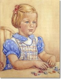 Other Miscellaneous Works - Portrait of Three-Year-Old Ianthe Barker 1951