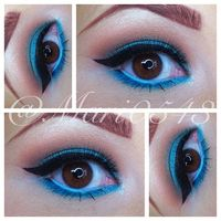 Did this eye look today. Crease: Makeup Forever #70, lightly applied #139 on top. Brow Bone: MKF: 126. Lid: Maybelline Color tattoo in 40 Tenacious Teal and MKF #83 on top. Bottom Lash line: #83. Tear duct: Makeup Forever diamond powder #7. Waterline: Urb...