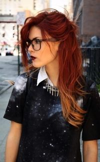 red hair ombre