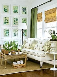 Fresh green + white. #ivingrooms #laylagrayce