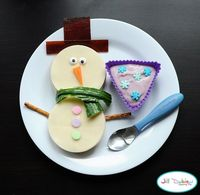 Snowman lunch! LOVE!