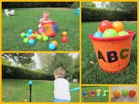 Our ABC Bucket--label each ball with a letter and do some of these 22 activities