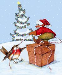 The Gnome The Bird And The Xmas Package - Peggy Wison