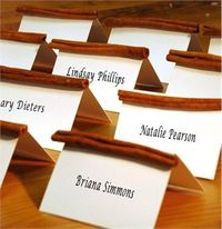 fall place cards for weddings - Google Search