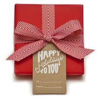 red gift wrap and love the ribbon!