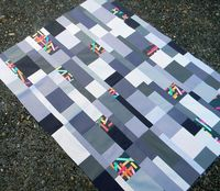 Washi Tiles - quilt top by wishes, true and kind, via Flickr