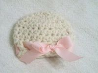 Super bulky baby girl hat. Just made one...works up fast! Perfect for gift.