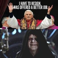 Pope was offered a better job #Star Wars