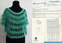 nice lacy top with diagrams! It's like a poncho with sleeves!