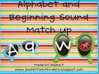 Alphabet & Beginning Sound Match Up Freebie