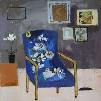 Charlotte Hardy: Blue Geranium Chair