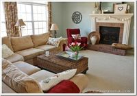 Love this family room and the updates!