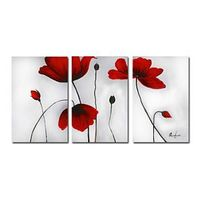 Beautiful Floral Oil Painting - Set of 3 - Free Shipping