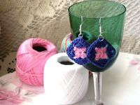 crcanny: handmake a pair of Granny Square earrings for $5, on fiverr.com