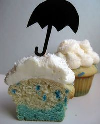 Rainy Day Cupcakes | 33 Beautiful Things You Can Make With Food Coloring