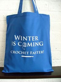 Game of Thrones inspired crochet project bag by KellyConnorDesigns x