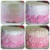 All natural pink ombre rose cake (no food dye!) includes a video...uses beet juice for color and no taste