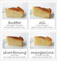 Baking Science: Which fat makes the best cake? Oil, Butter, Margarine, or Shortening.