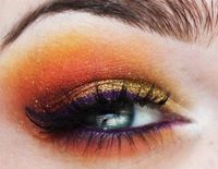 Sunset Eye Shadow Makeup
