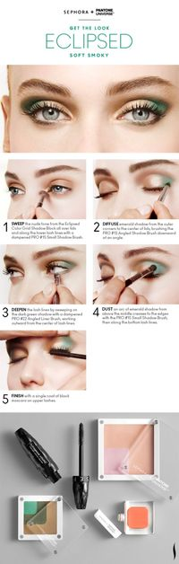 Get the Look: Bionic Soft Smoky Eyes HOW TO #Sephora #Emerald #ColoroftheYear