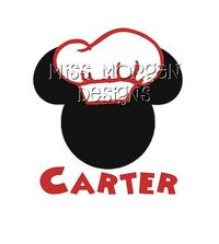 Personalized Chef Mickey Mouse Disney iron on decal by MissMorgan, $7.00
