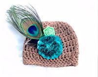 Peacock Crochet Hat