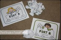 Throw a Snowball Fight to practice REAL and NONSENSE WORDS!