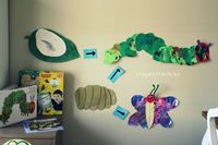 The Hungry Caterpillar art display #crayonfreckles