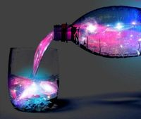 You can make a glowing galaxy cocktail